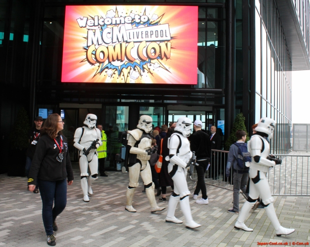 MCM-Liverpool-Comic-Con-March-2017-UK-Cosplay-Star-Wars-StormTrooper-Entrance
